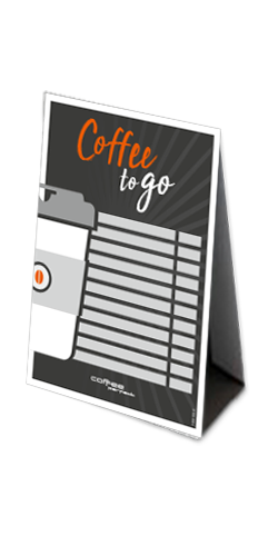coffee perfect Thekenaufsteller – Coffee to go