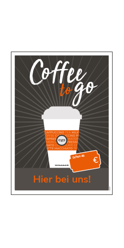 Poster A2 - Coffee to go